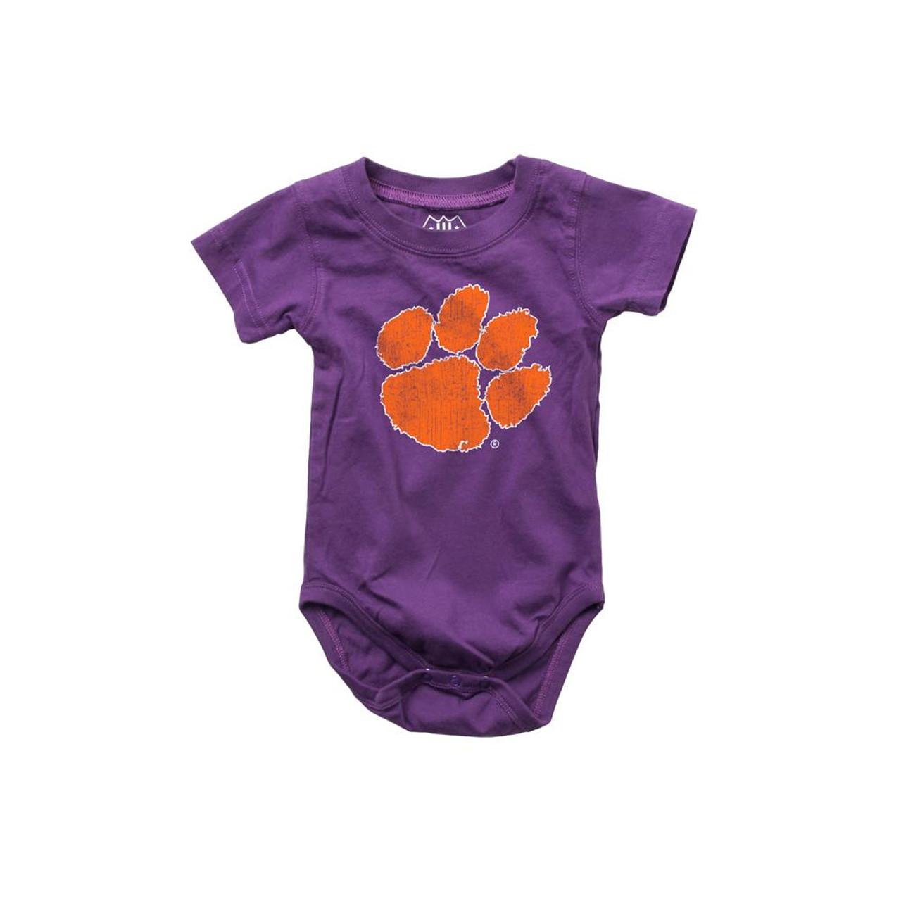 Infant Clemson University Tigers Bodysuits 3 Pack Organic Cotton Set