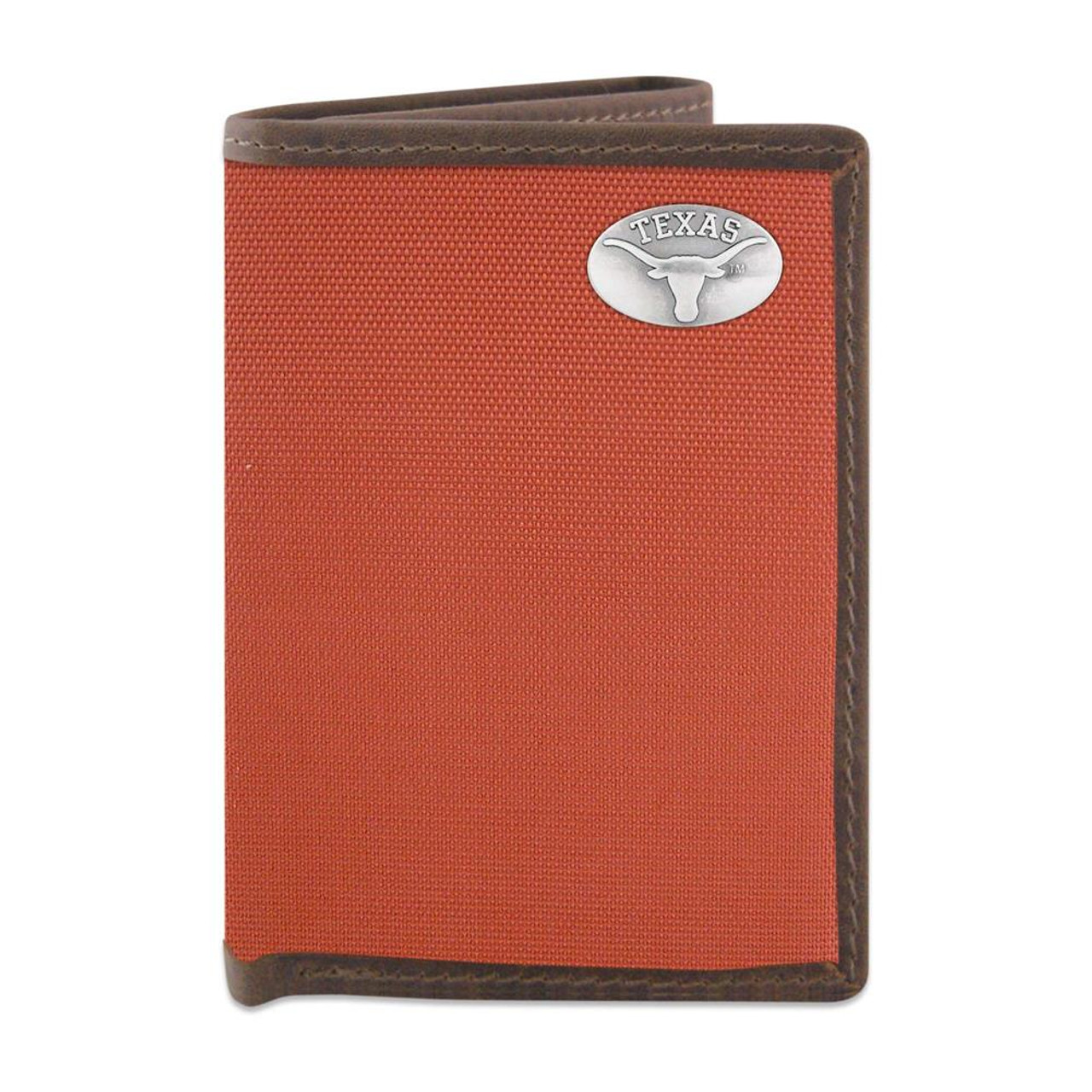 Youth University of Texas Longhorns Wallet Nylon/Leather Concho Wallet