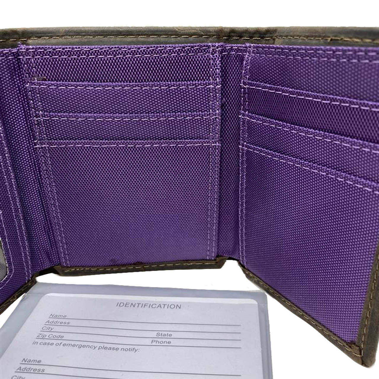 Youth LSU Tigers Louisiana State Wallet Nylon/Leather Concho Wallet
