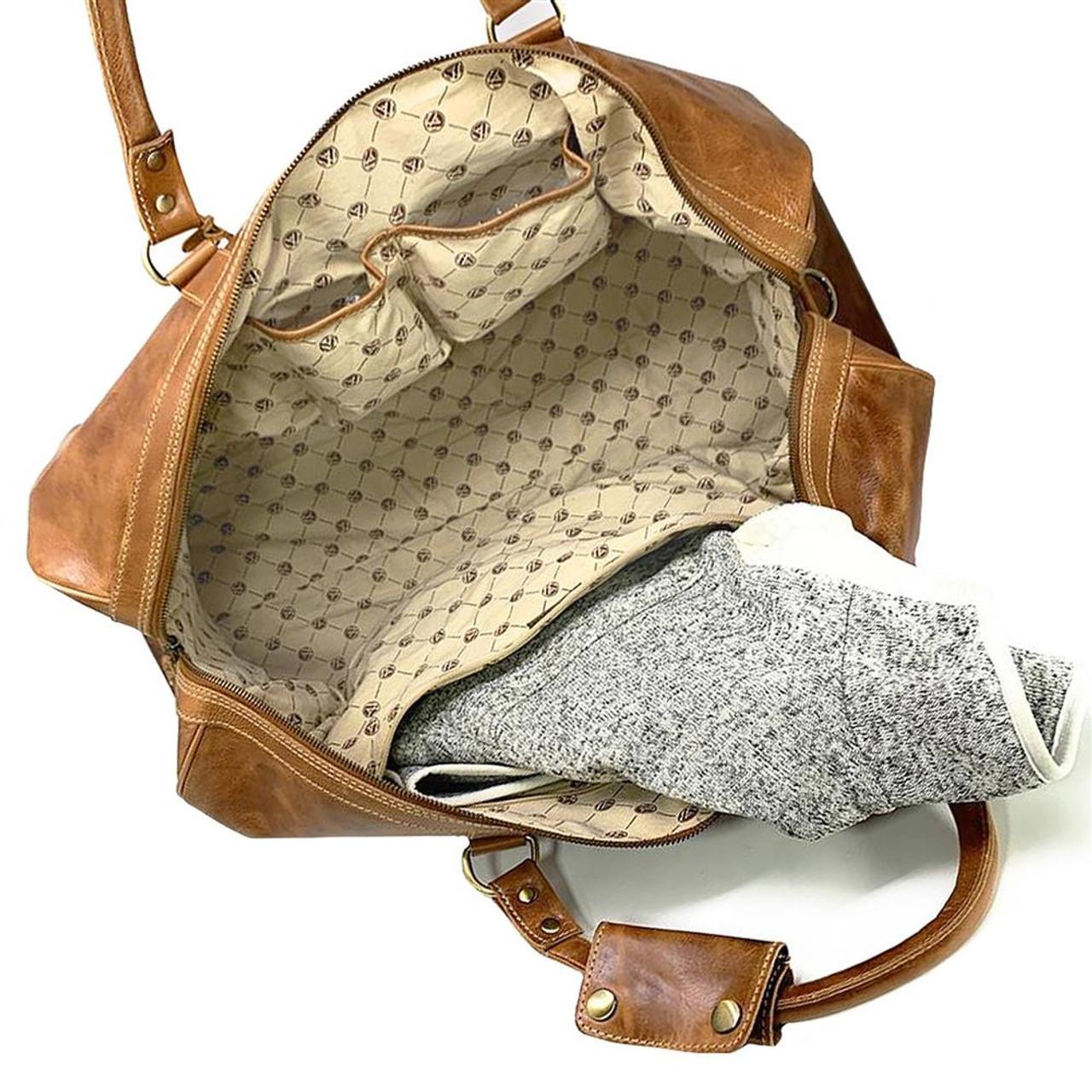North Carolina Tarheels UNC Duffel Bag Genuine Leather Duffel