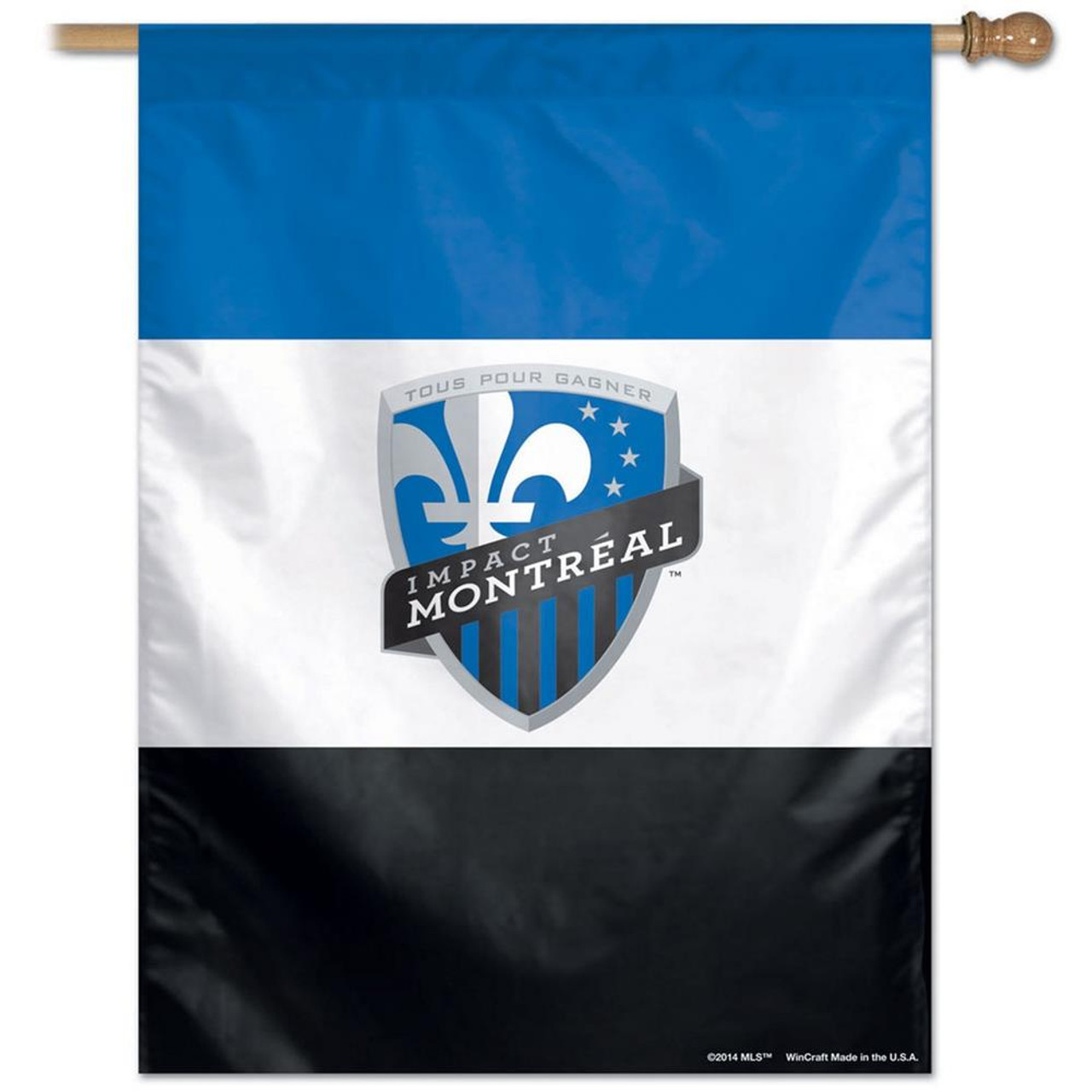 Montreal Impact Vertical Outdoor House Flag Outdoors