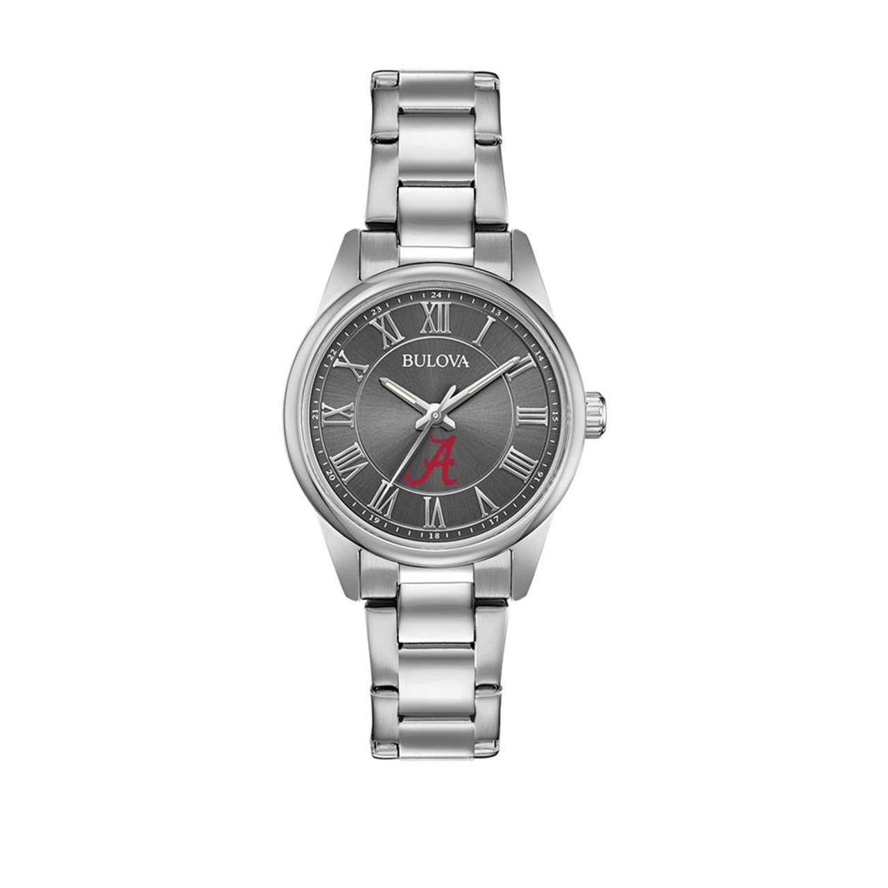 Women's Alabama Crimson Tide Bama Bulova Watch Black/Silver Watch