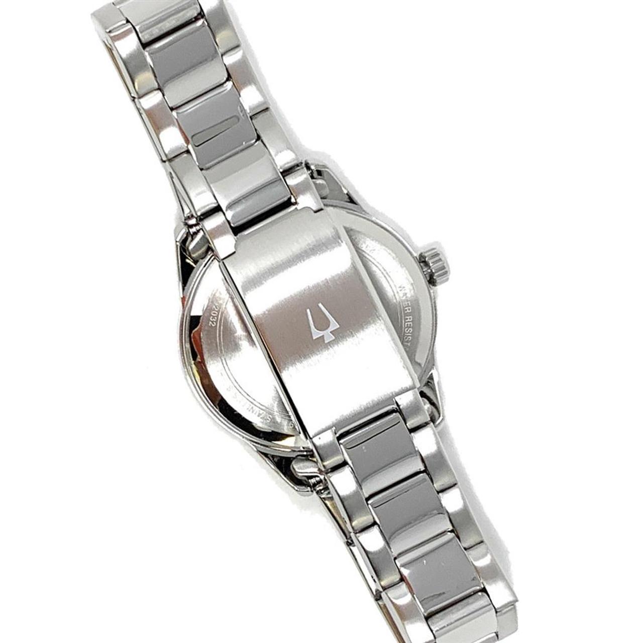 Women's North Carolina Tarheels UNC Bulova Watch Black/Silver Watch