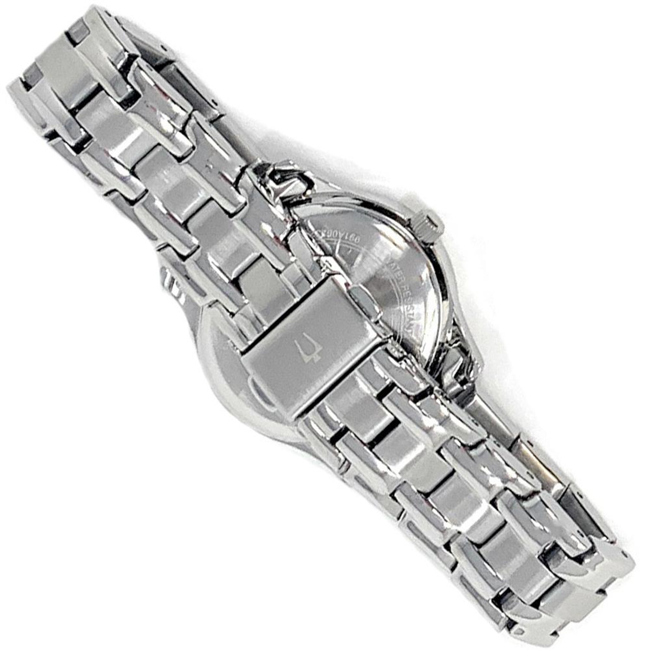 Women's North Carolina Tarheels UNC Watch Bulova Silver Circle II