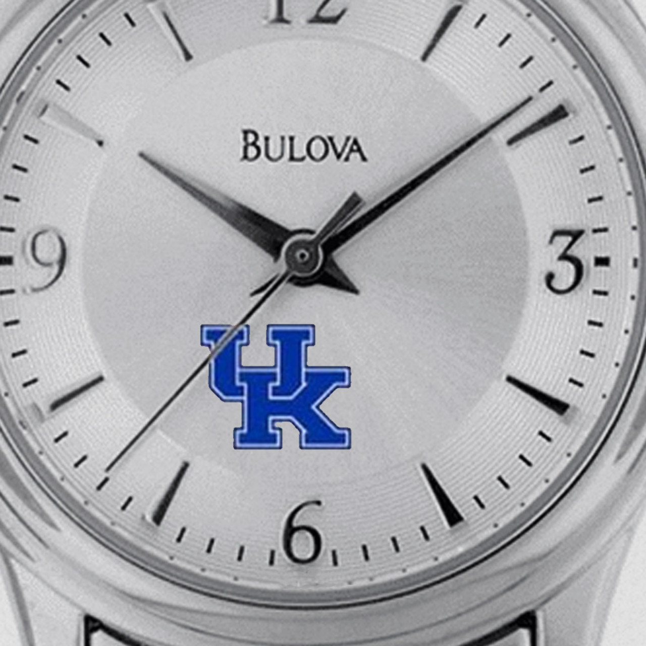 Women's Kentucky Wildcats UK Watch Bulova Silver Circle II