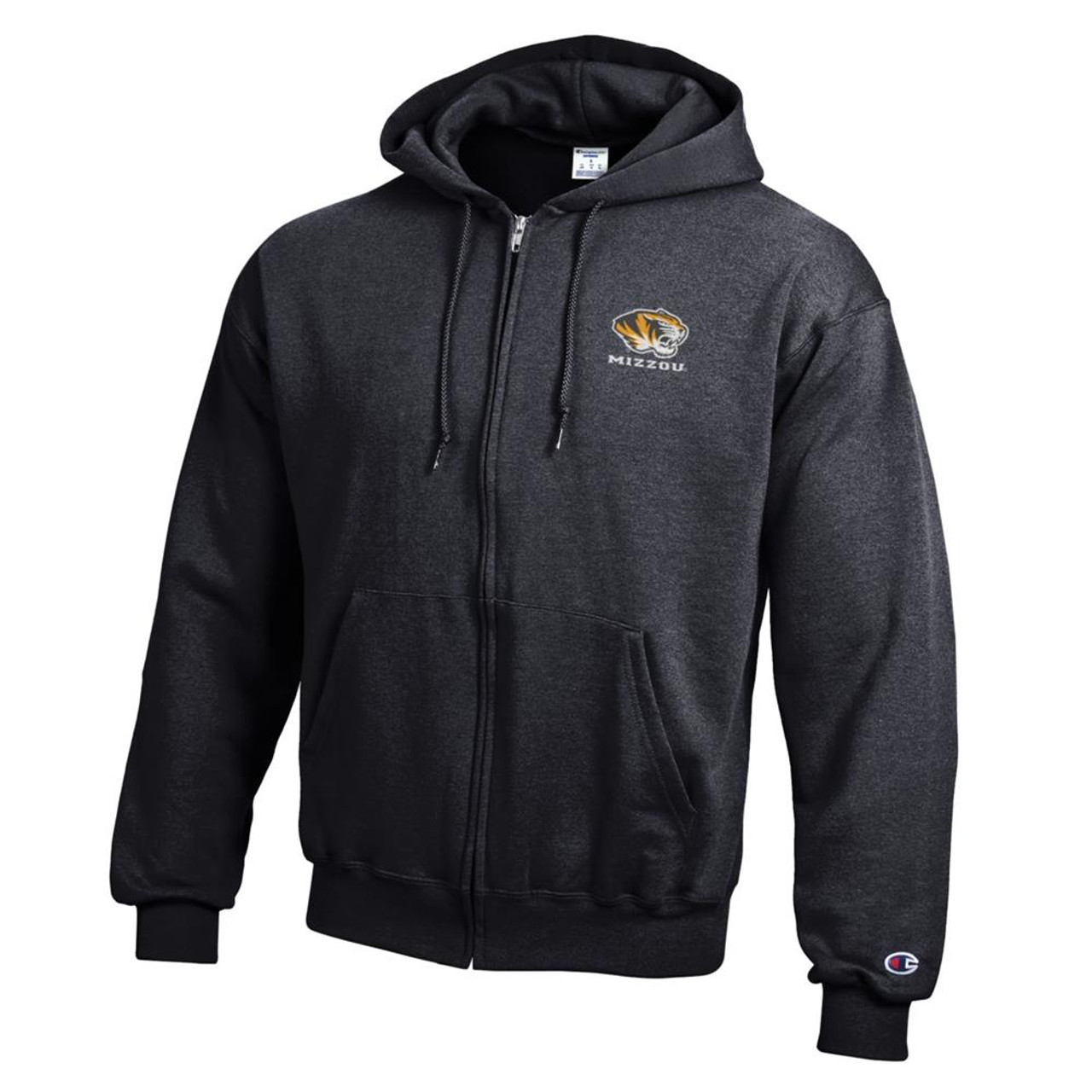 Missouri Tigers Mizzou Full Zip Hoodie Champion ECO Full Zip