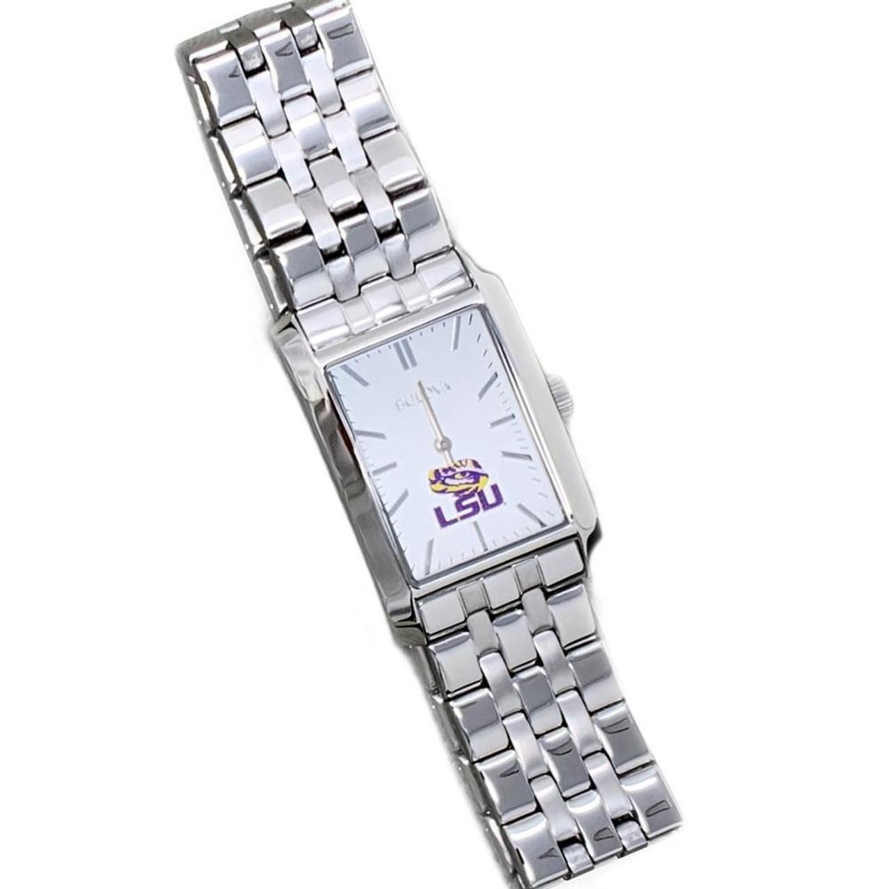 Women's Alabama Crimson Tide Bama Bulova Silver Rectangle Watch