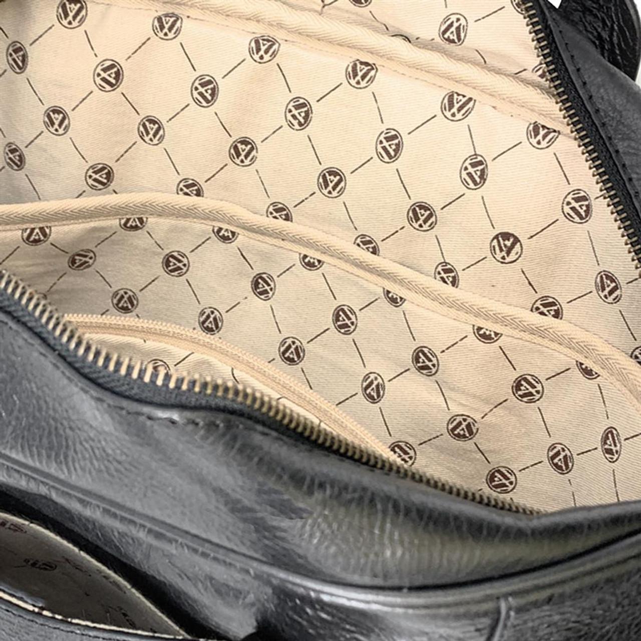 Georgia Bulldogs UGA Business Case Black Genuine Leather