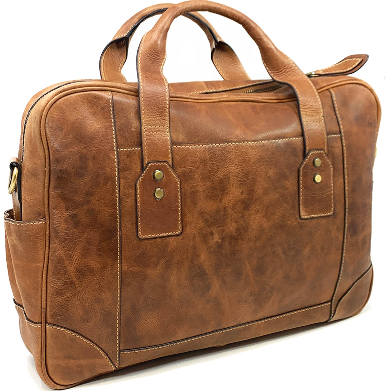 Tennessee Vols Buiness Case Genuine Tan Leather