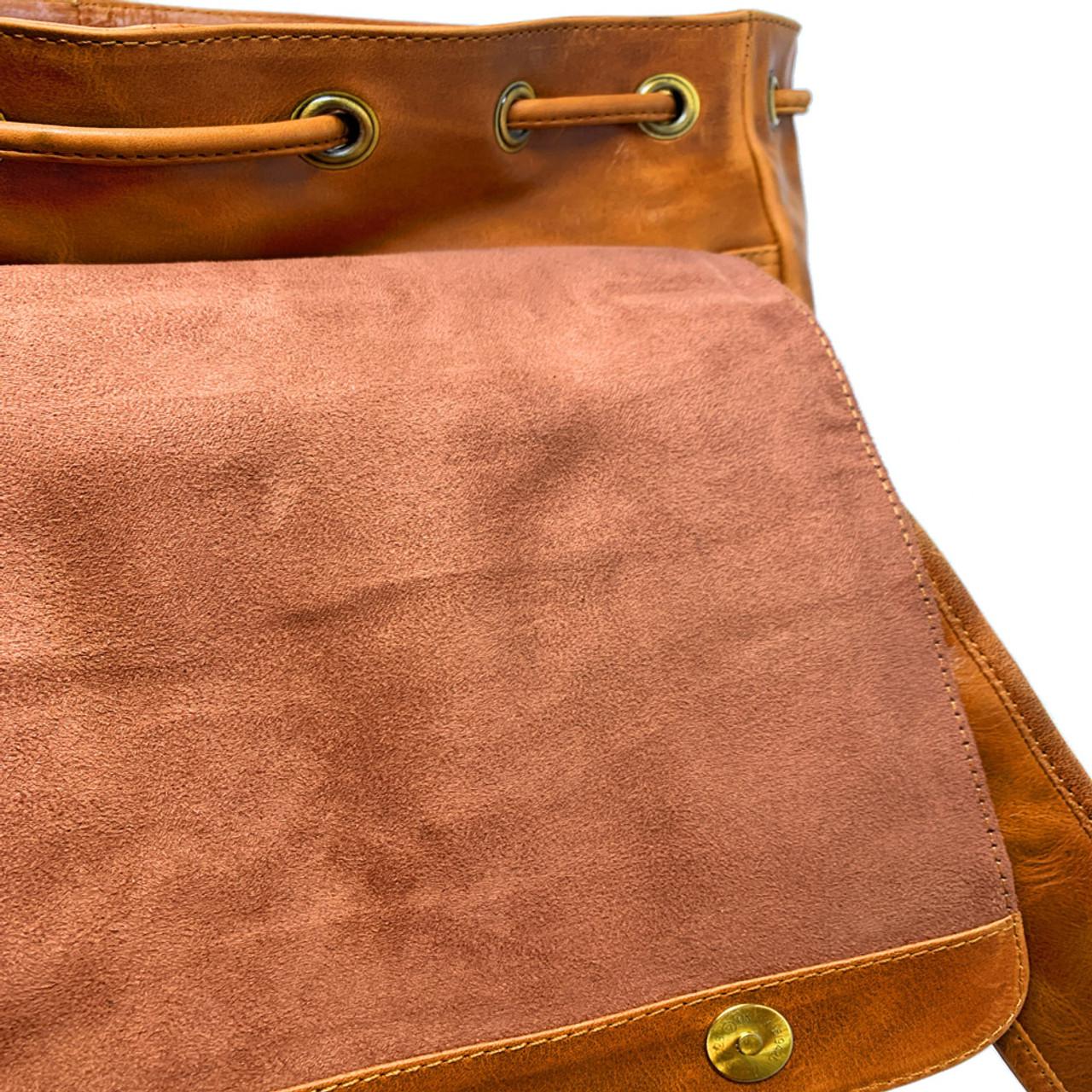 Georgia Bulldogs UGA Leather Rucksack Tan Westbridge Backpack