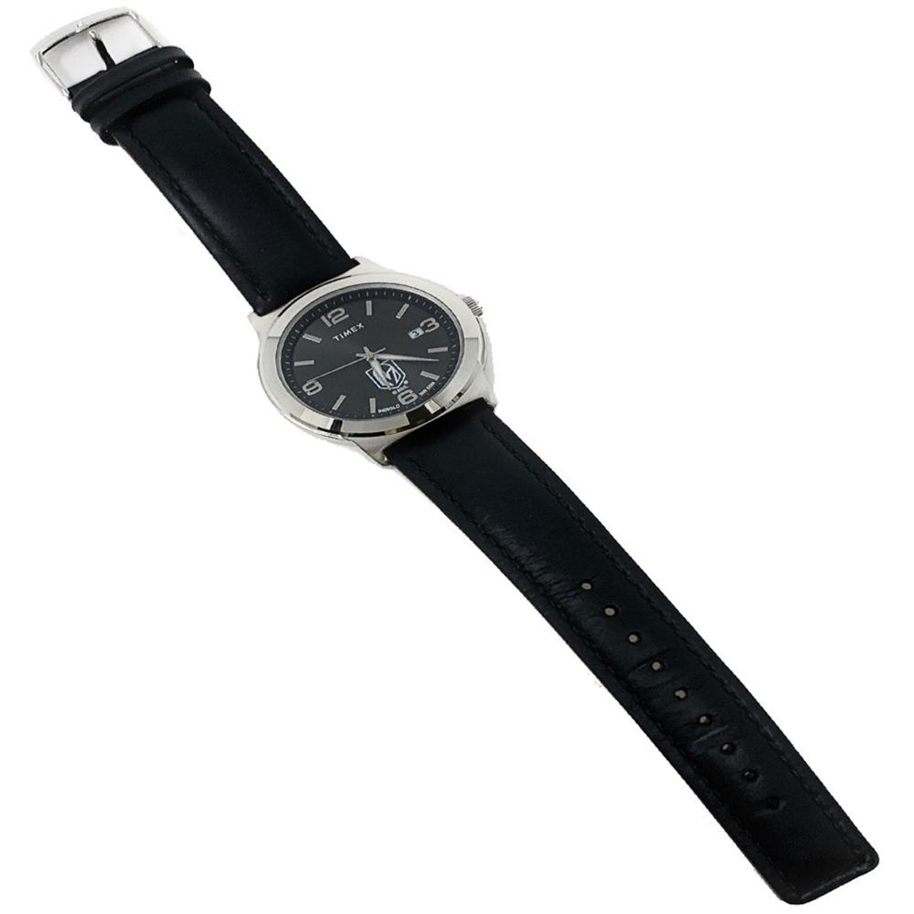 Men's Stanford University Watch Black Leather Band Timex Ace