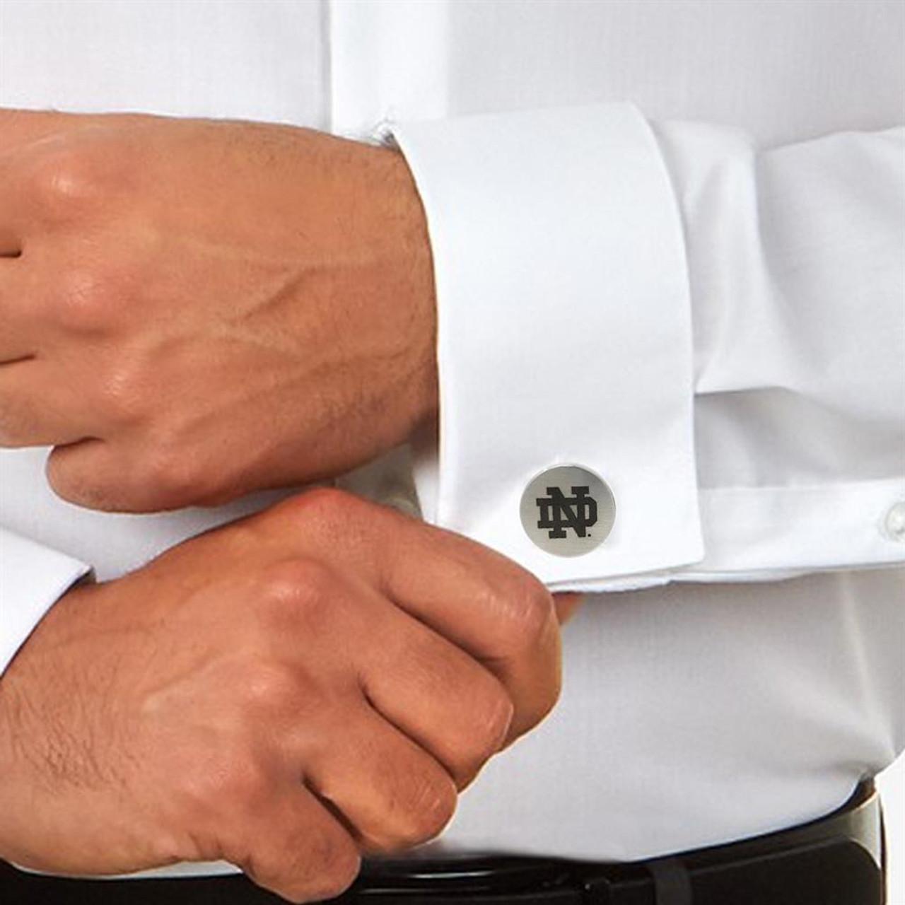 Kansas State University Cuff Links Silver Cufflink Set
