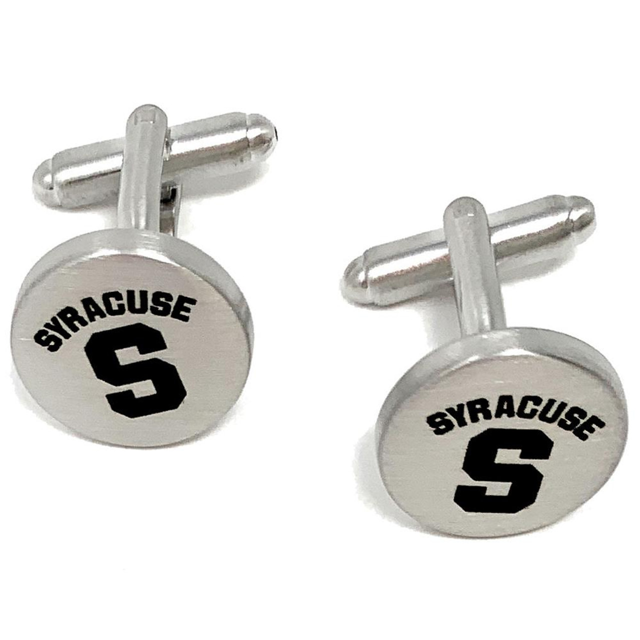 Syracuse University Cuff Links Silver Cufflink Set
