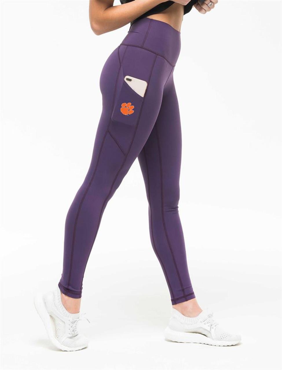 Ladies Clemson University Tigers iLeggings Yoga Pants by Kadyluxe