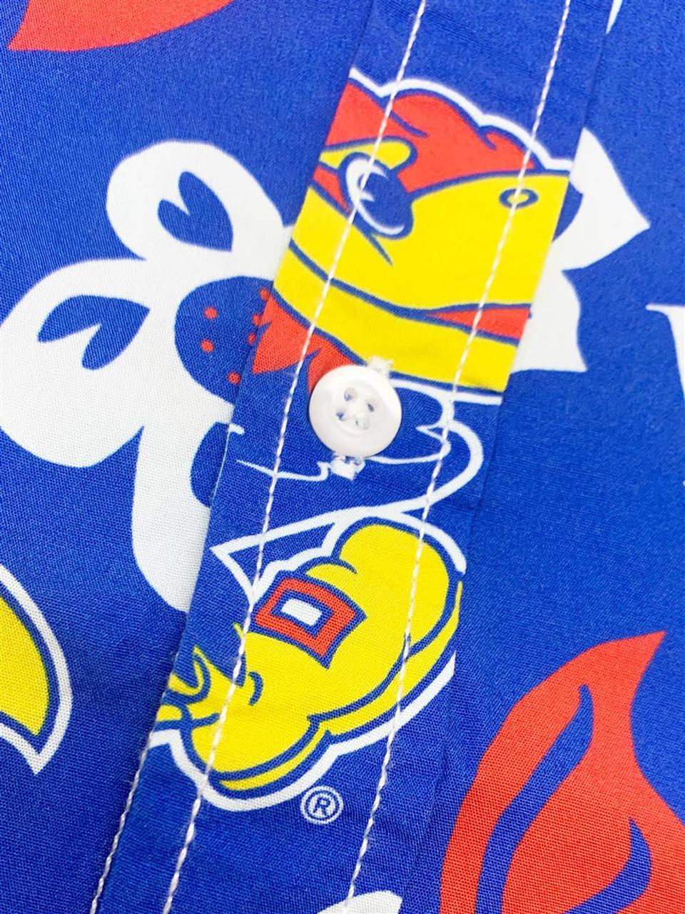 Men's Auburn University Tigers Floral Shirt Button Up Beach Shirt