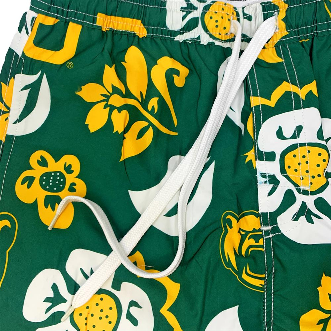 Men's Clemson University Tigers Swim Trunks Floral Swim Shorts