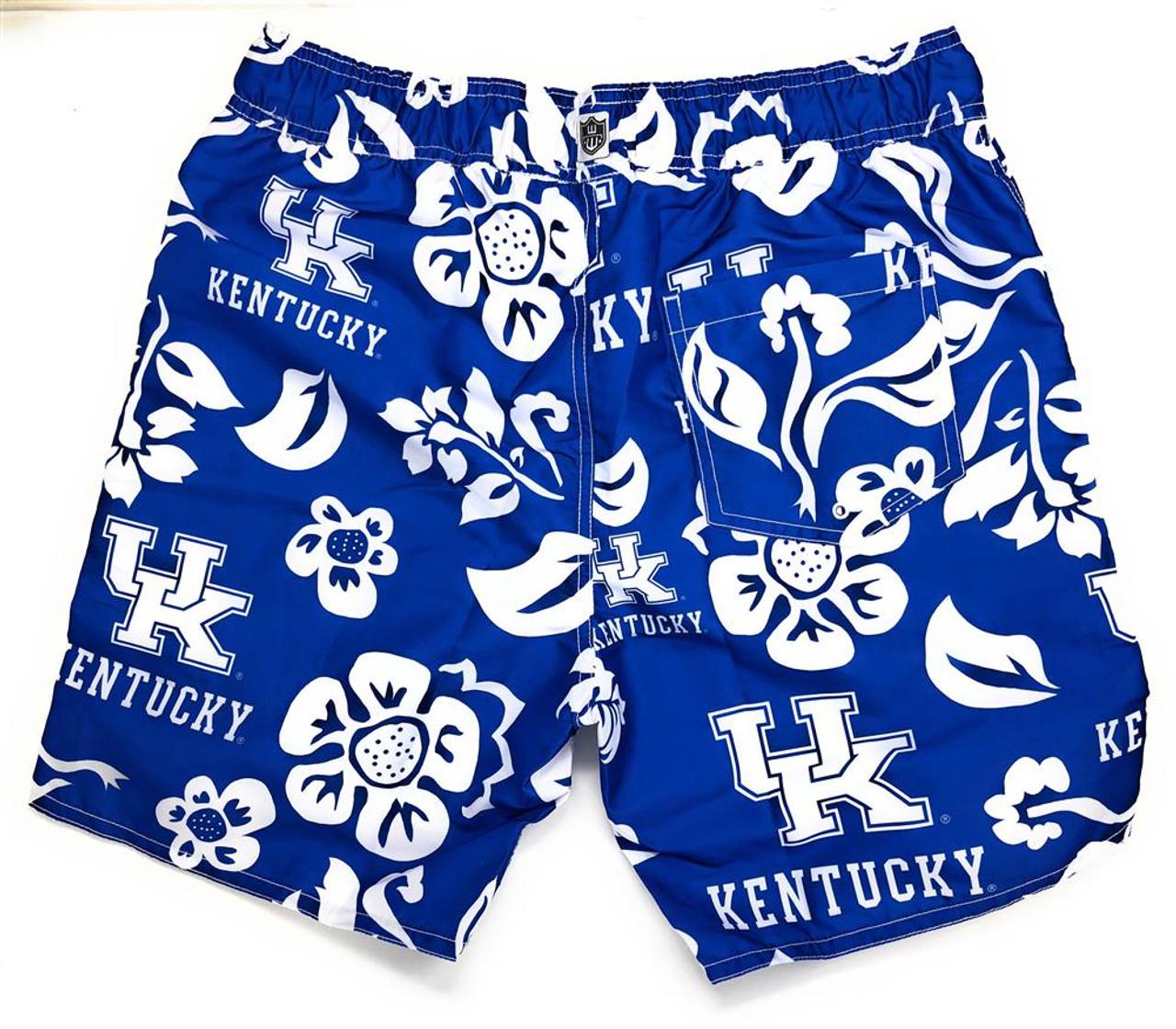 Men's Kentucky Wildcats UK Swim Trunks Floral Swim Shorts