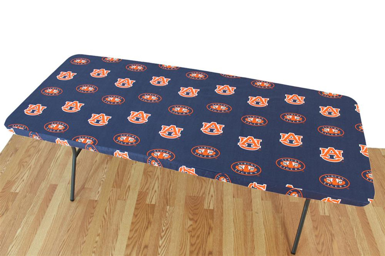 Auburn University Tigers Tablecloth Reusable 6ft Table Cover