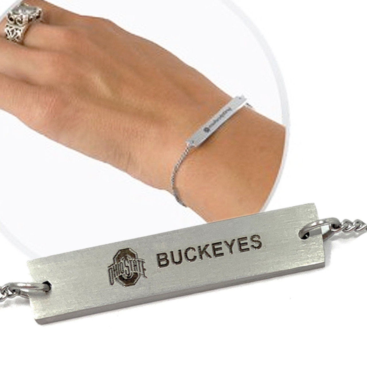 Women's Alabama Crimson Tide Bama Bracelet Silver Bar Bracelet