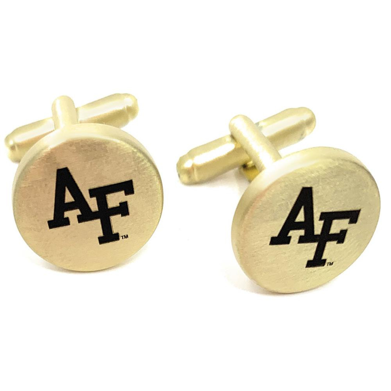 Air Force Academy Falcons Cuff Links Brushed Gold Cufflink Set