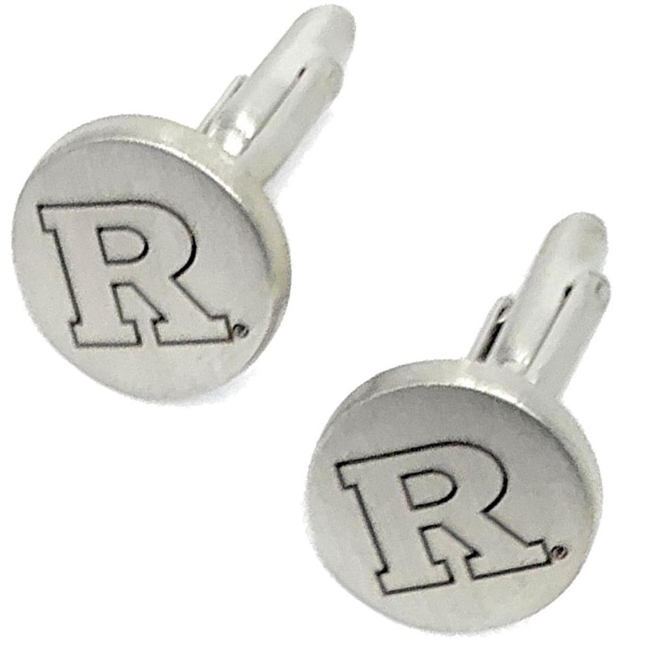 Rutgers University Cuff Links Silver Cufflink Set