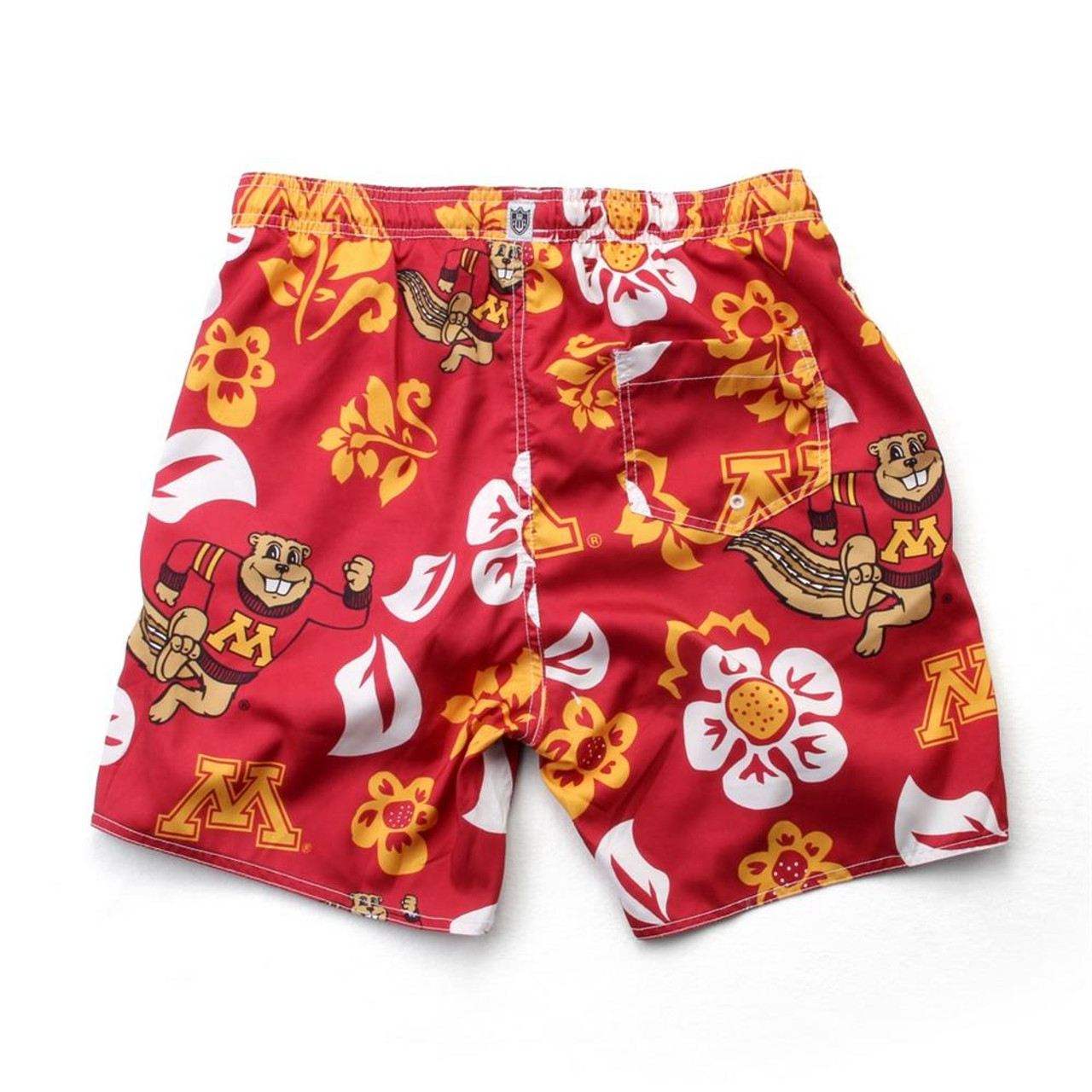 Men's Minnesota Golden Gophers Swim Trunks Floral Swim Shorts