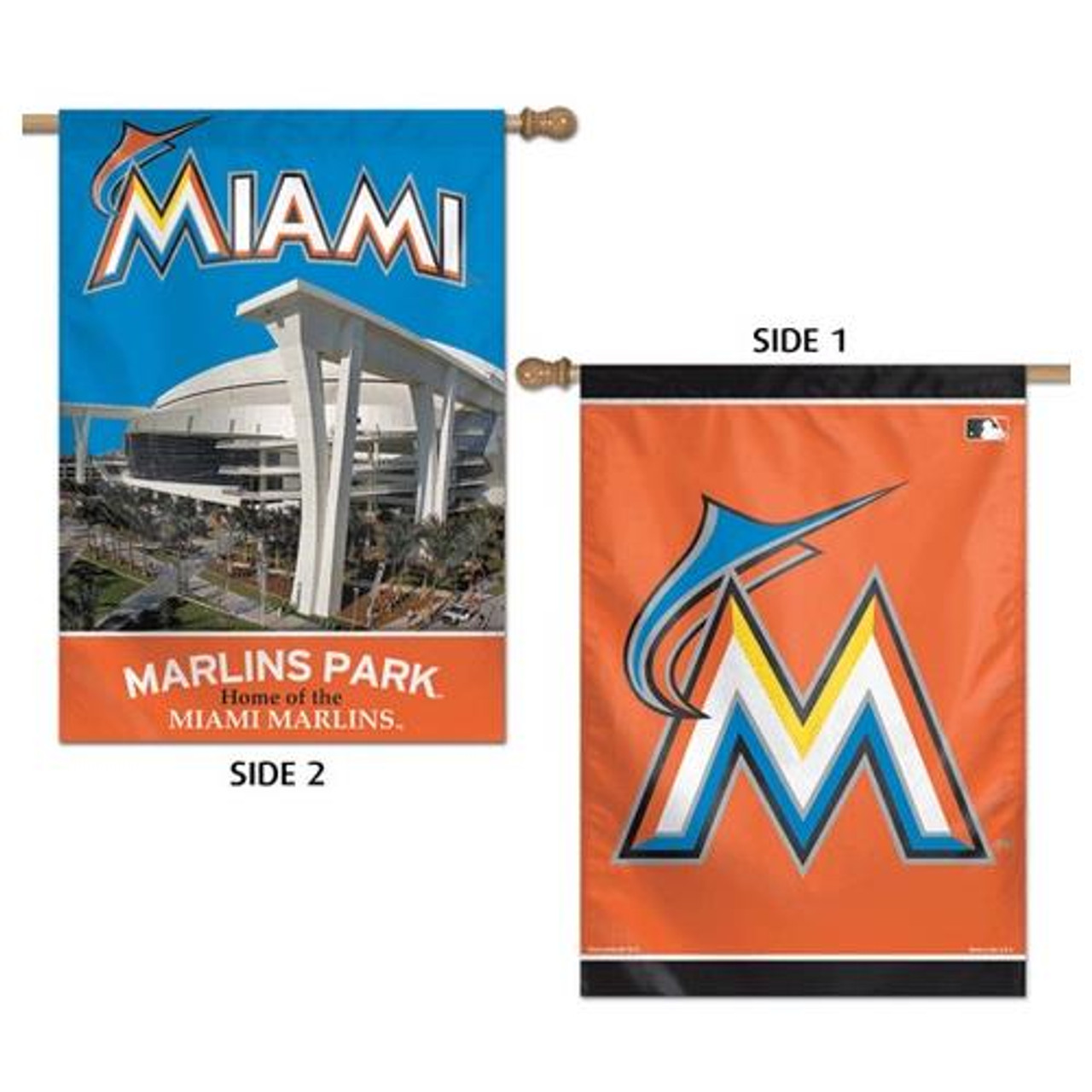 "Miami Marlin Flag 28"" x 40"" Double Sided Banner"