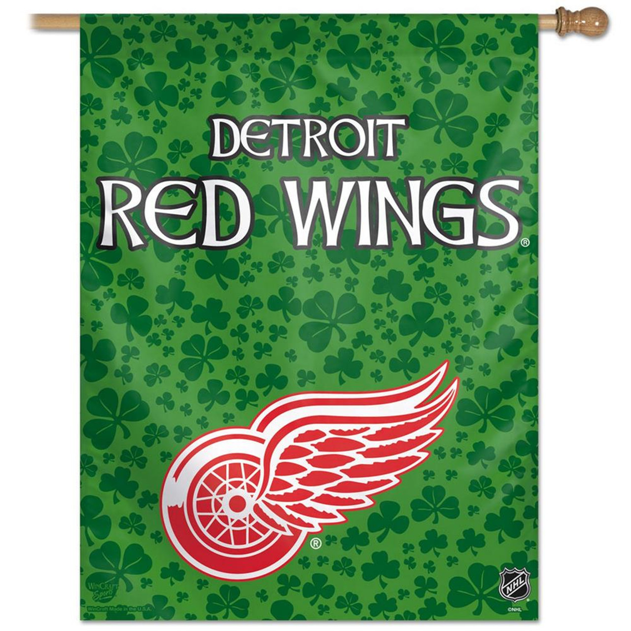 Detroit Red Wings Vertical Outdoor House Flag