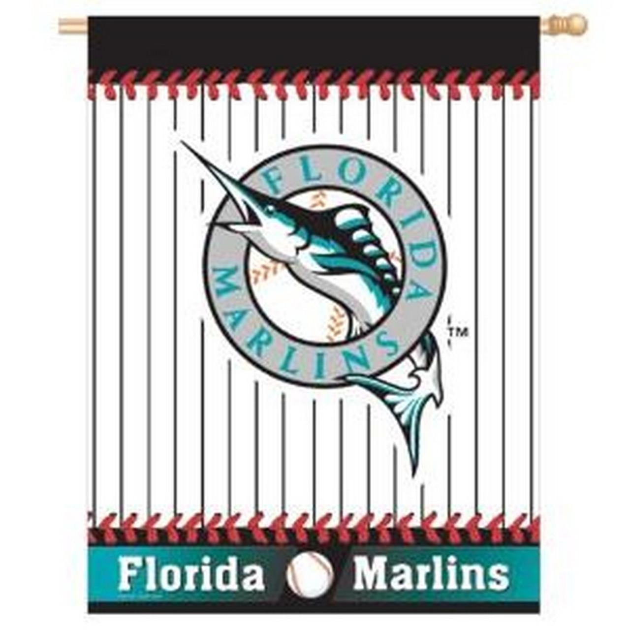 Florida Marlins Vertical Outdoor House Flag