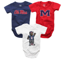 96b1f569 Infant Ole Miss Rebels Bodysuits 3 Pack Organic Cotton Set