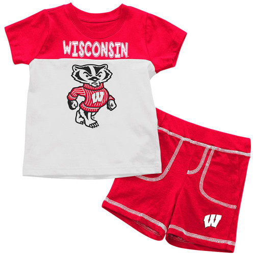 University of Wisconsin Badgers Infant T-Shirt and Shorts Boy's 2-Pc Set