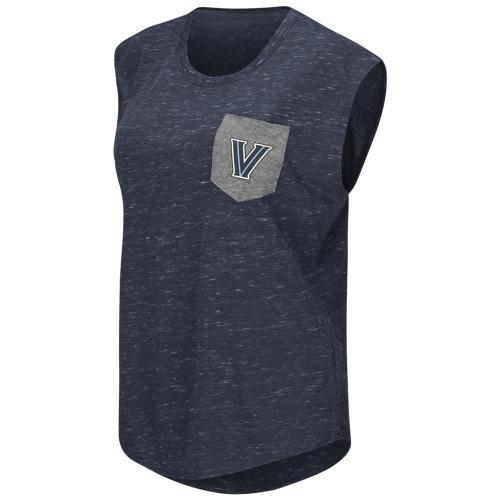 Villanova University Ladies Pocket Tee Heathered Vintage T-Shirt