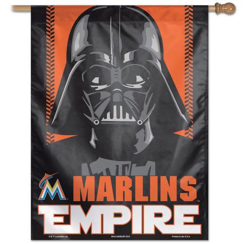 "27"" x 37"" Vertical Star Wars Miami Marlin House Flag"