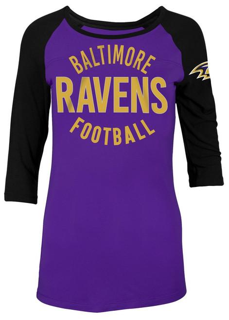 Baltimore Ravens Raglan Shirt Women's Graphic T-Shirt