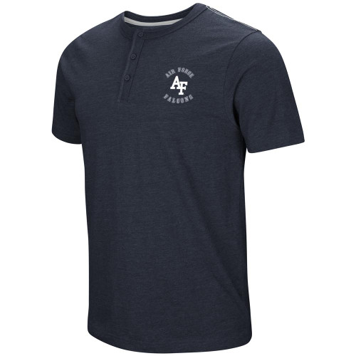 Air Force Academy Falcons Henley Shirt Men's Short Sleeve T-Shirt