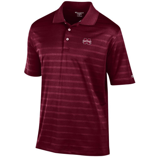 Mississippi State Bulldogs Men's Polo Champion Textured Solid Polo