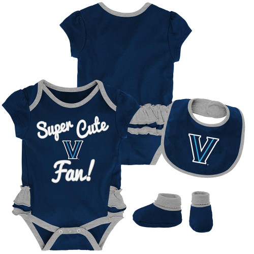 Infant Villanova University Bodysuits 3 Pack Organic Cotton Set