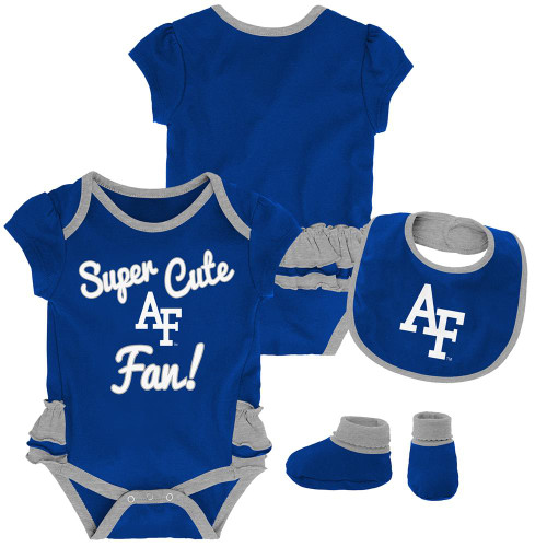 Air Force Academy Falcons Creeper, Bib and Bootie Set Infant Set