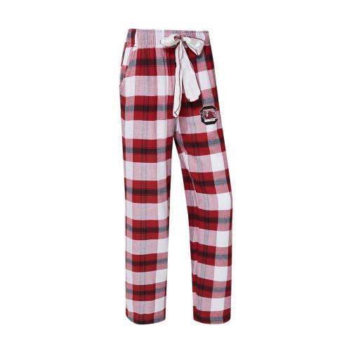 South Carolina Gamecocks Women's Flannel Pajamas Plaid PJ Bottoms