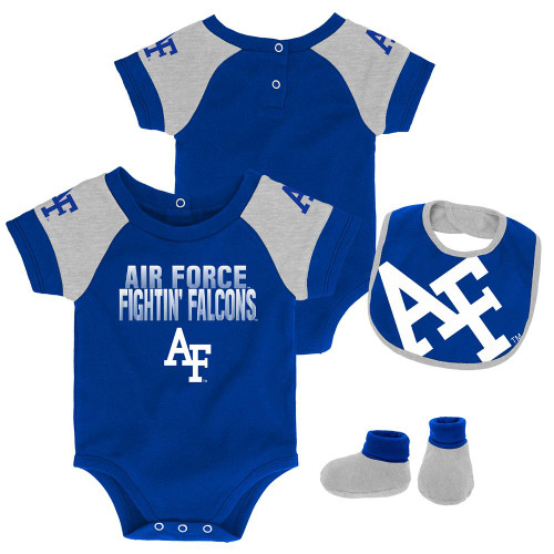 Infant Air Force Academy Falcons Creeper Set Baby Snapsuit Set