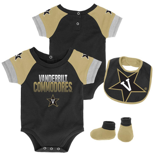 Infant Vanderbilt University Vandy Creeper Set Baby Snapsuit Set