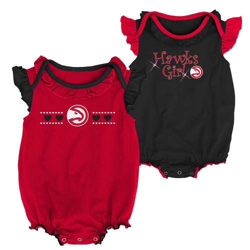 Atlanta Hawks Creeper 2 Pack Homecoming Bodysuit Set