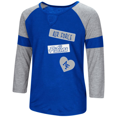 Air Force Academy Falcons Youth Girls 3/4 Sleeve All You Need Tee