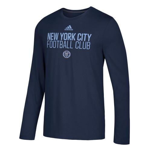 Men's New York City FC Adidas Official Locker Room LS Tee