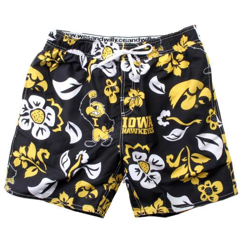 Men's University of Iowa Hawkeyes Swim Trunks Floral Swim Shorts