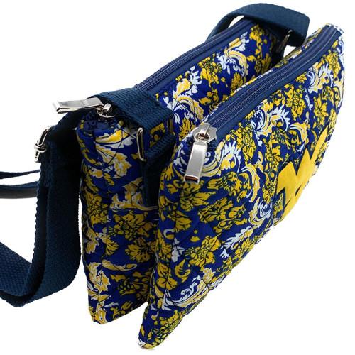 Purdue University Purse Bloom Quilted Crossbody Handbag