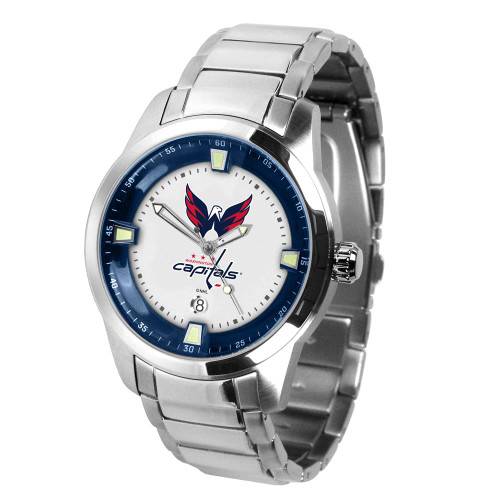 Mens Washington Capitals Watch Stainless Steel Titan Watch