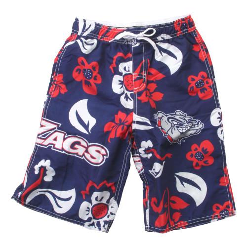 Youth Gonzaga University Bulldogs Swim Trunks Boys Floral Swim Shorts