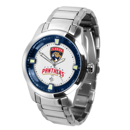 Mens Florida Panthers Watch Stainless Steel Titan Watch