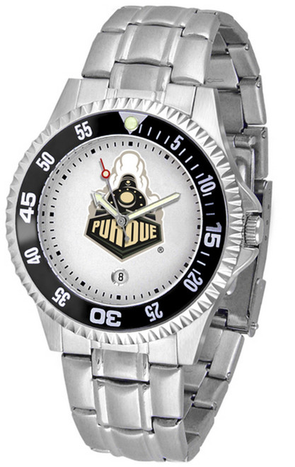 Men's Purdue University Watch Competitor Stainless Steel